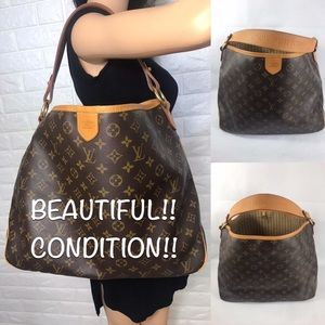 🔥EXTRA-LARGE RARE Louis Vuitton delightful TOTE